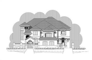 4-Bedroom, 6475 Sq Ft Luxury Home Plan - 156-2124 - Main Exterior