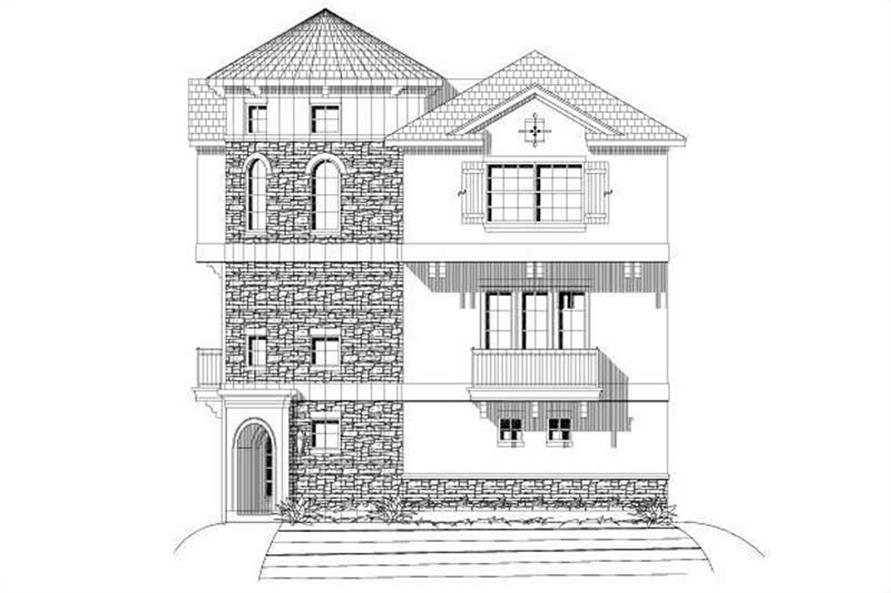 3-Bedroom, 2309 Sq Ft Mediterranean House Plan - 156-2126 - Front Exterior