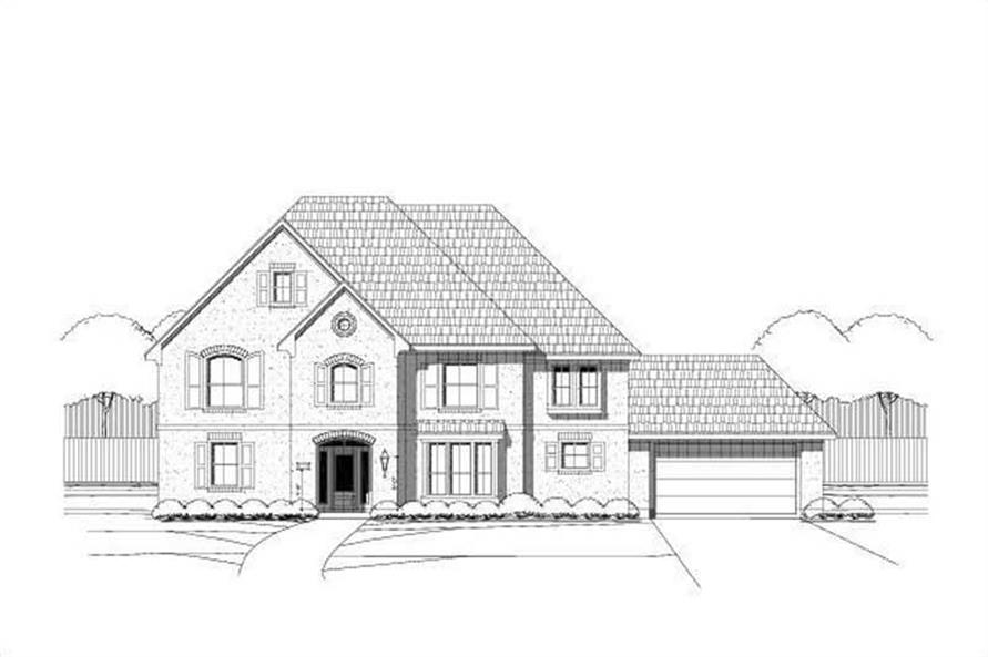 5-Bedroom, 4690 Sq Ft Luxury House Plan - 156-2128 - Front Exterior