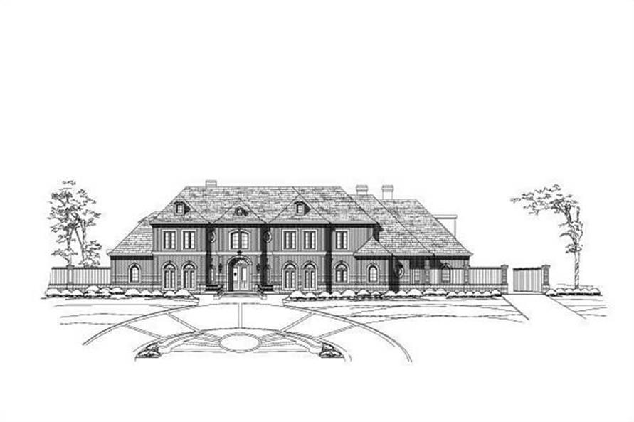 6-Bedroom, 9474 Sq Ft Luxury Home Plan - 156-2129 - Main Exterior
