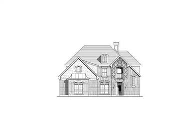 4-Bedroom, 3479 Sq Ft French Home Plan - 156-2133 - Main Exterior