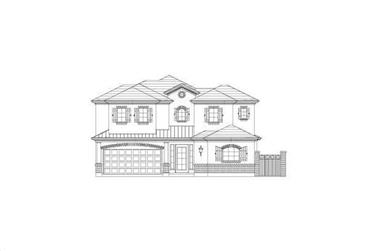 4-Bedroom, 3323 Sq Ft Country Home Plan - 156-2134 - Main Exterior