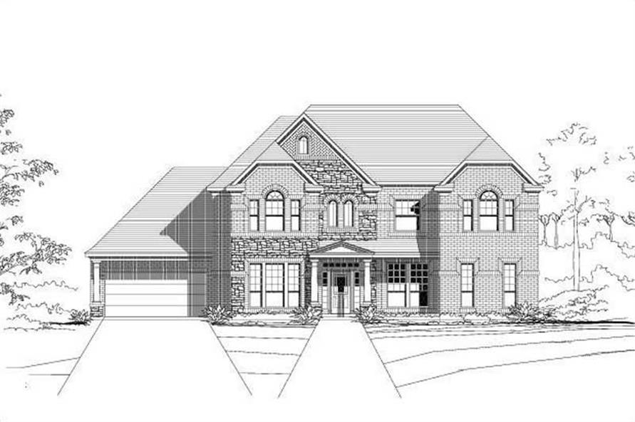 6-Bedroom, 4157 Sq Ft Luxury Home Plan - 156-2135 - Main Exterior