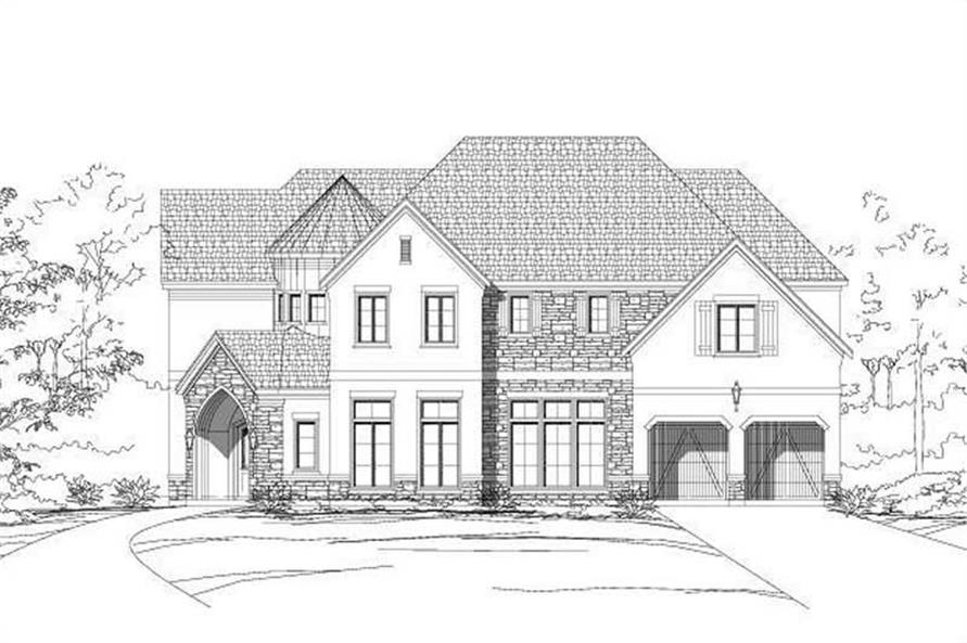 4-Bedroom, 5079 Sq Ft Luxury House Plan - 156-2136 - Front Exterior