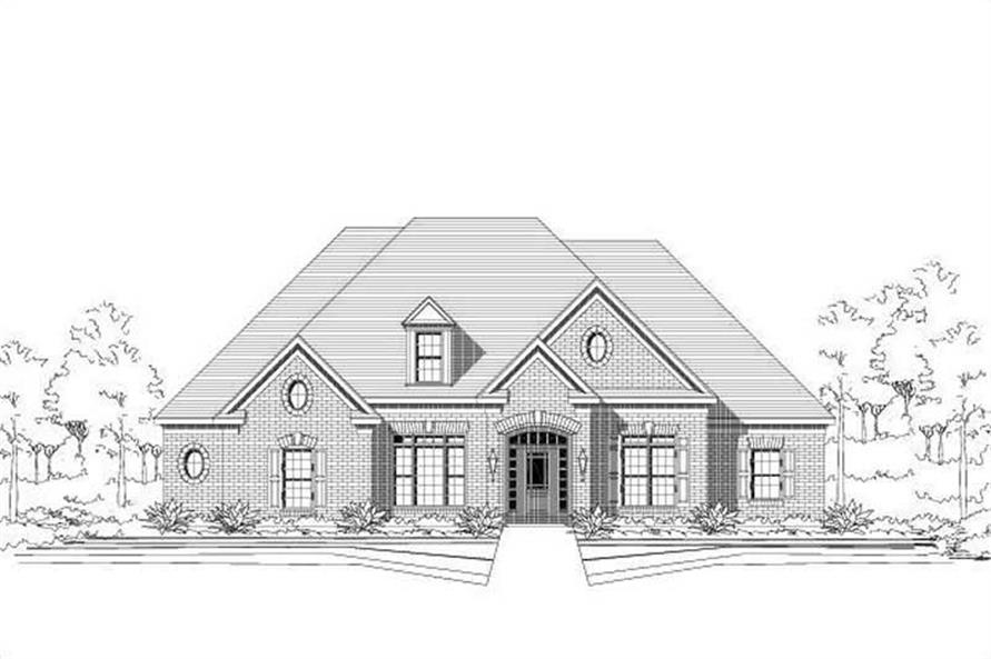4-Bedroom, 2875 Sq Ft Traditional House Plan - 156-2137 - Front Exterior