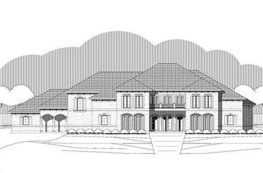 5-Bedroom, 6125 Sq Ft Mediterranean House Plan - 156-2138 - Front Exterior