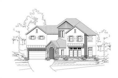 4-Bedroom, 4550 Sq Ft Mediterranean House Plan - 156-2141 - Front Exterior