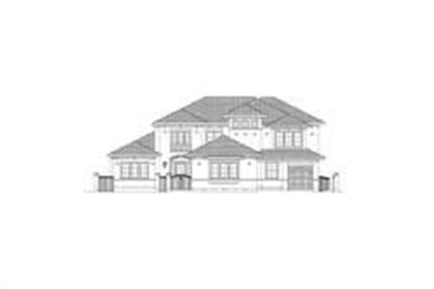 5-Bedroom, 5232 Sq Ft Luxury House Plan - 156-2142 - Front Exterior