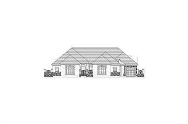 3-Bedroom, 3756 Sq Ft Tuscan House Plan - 156-2145 - Front Exterior