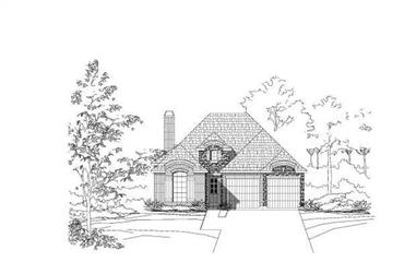3-Bedroom, 2522 Sq Ft Country House Plan - 156-2146 - Front Exterior