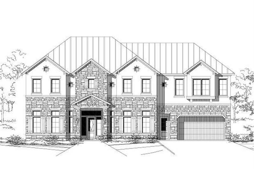 4-Bedroom, 3631 Sq Ft Spanish Home Plan - 156-2147 - Main Exterior