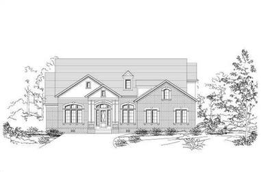 4-Bedroom, 3903 Sq Ft Luxury Home Plan - 156-2149 - Main Exterior