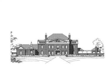 5-Bedroom, 7943 Sq Ft Luxury Home Plan - 156-2150 - Main Exterior