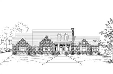4-Bedroom, 3984 Sq Ft Spanish House Plan - 156-2154 - Front Exterior