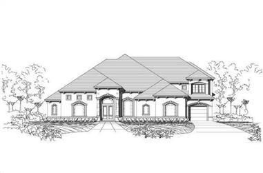 5-Bedroom, 6200 Sq Ft Mediterranean Home Plan - 156-2155 - Main Exterior