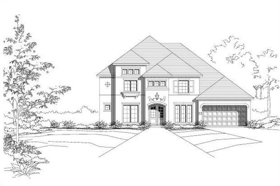 4-Bedroom, 4141 Sq Ft Mediterranean House Plan - 156-2157 - Front Exterior