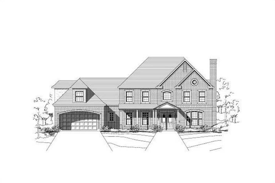 4-Bedroom, 5285 Sq Ft Luxury Home Plan - 156-2158 - Main Exterior