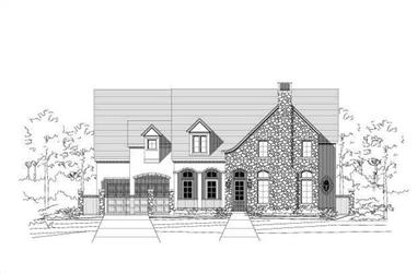5-Bedroom, 5856 Sq Ft Luxury House Plan - 156-2159 - Front Exterior