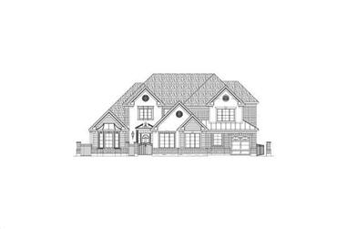 5-Bedroom, 5360 Sq Ft Luxury House Plan - 156-2160 - Front Exterior