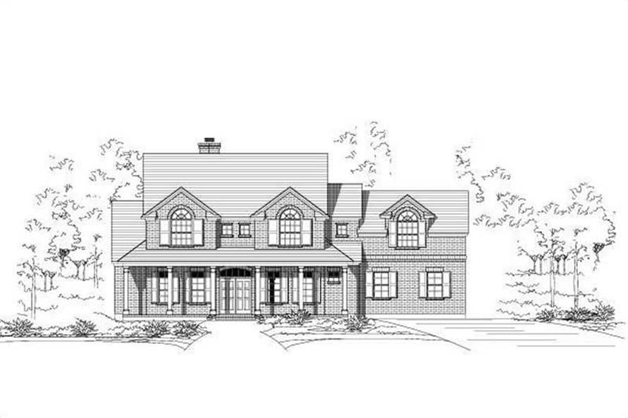 4-Bedroom, 3744 Sq Ft Luxury Home Plan - 156-2161 - Main Exterior