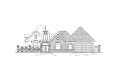 3-Bedroom, 3710 Sq Ft Mediterranean House Plan - 156-2162 - Front Exterior