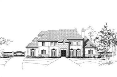 4-Bedroom, 7015 Sq Ft French Home Plan - 156-2163 - Main Exterior