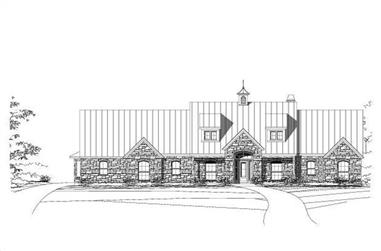 4-Bedroom, 3975 Sq Ft Country Home Plan - 156-2164 - Main Exterior