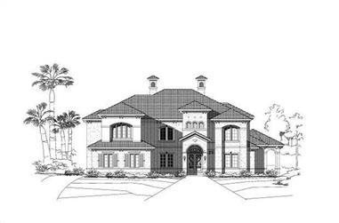 5-Bedroom, 5542 Sq Ft Mediterranean House Plan - 156-2165 - Front Exterior