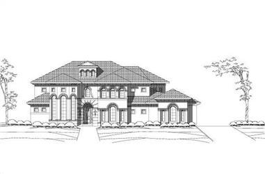 4-Bedroom, 5334 Sq Ft Mediterranean House Plan - 156-2166 - Front Exterior