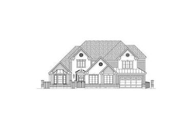 5-Bedroom, 4886 Sq Ft Luxury House Plan - 156-2168 - Front Exterior