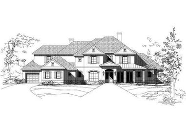 3-Bedroom, 5032 Sq Ft Luxury House Plan - 156-2169 - Front Exterior