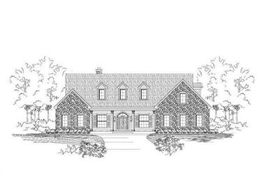 3-Bedroom, 3956 Sq Ft Luxury House Plan - 156-2171 - Front Exterior