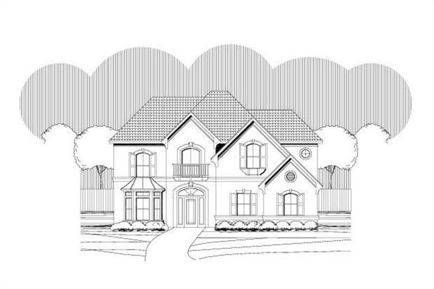 Main image for house plan # 19707