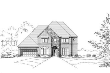 5-Bedroom, 4133 Sq Ft Luxury House Plan - 156-2177 - Front Exterior
