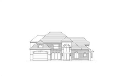5-Bedroom, 4201 Sq Ft Luxury Home Plan - 156-2180 - Main Exterior