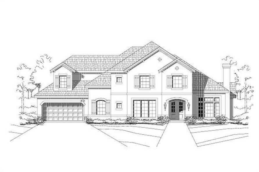 4-Bedroom, 3884 Sq Ft Luxury Home Plan - 156-2182 - Main Exterior