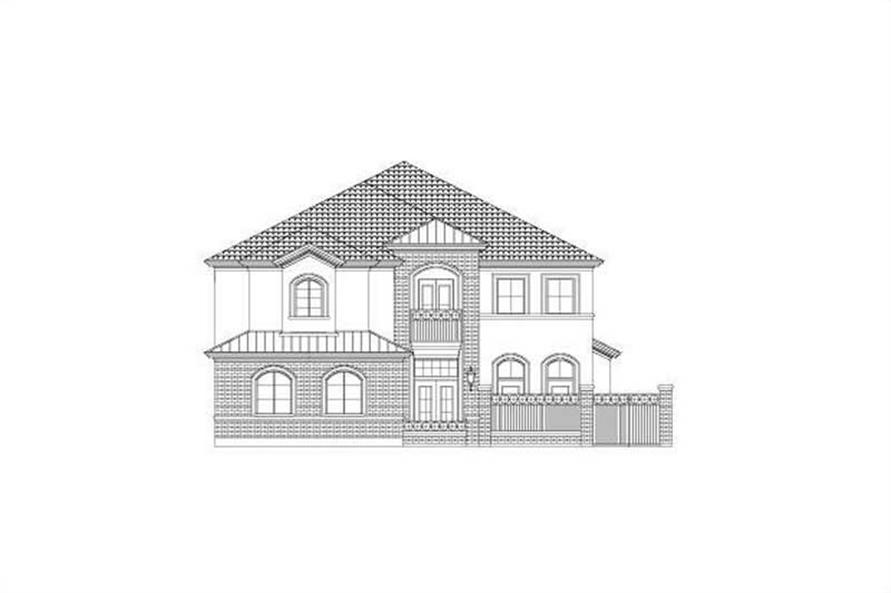 3-Bedroom, 3774 Sq Ft Luxury Home Plan - 156-2183 - Main Exterior