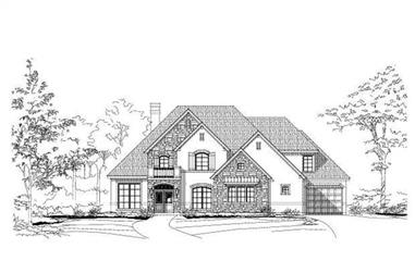 4-Bedroom, 3885 Sq Ft Country House Plan - 156-2184 - Front Exterior