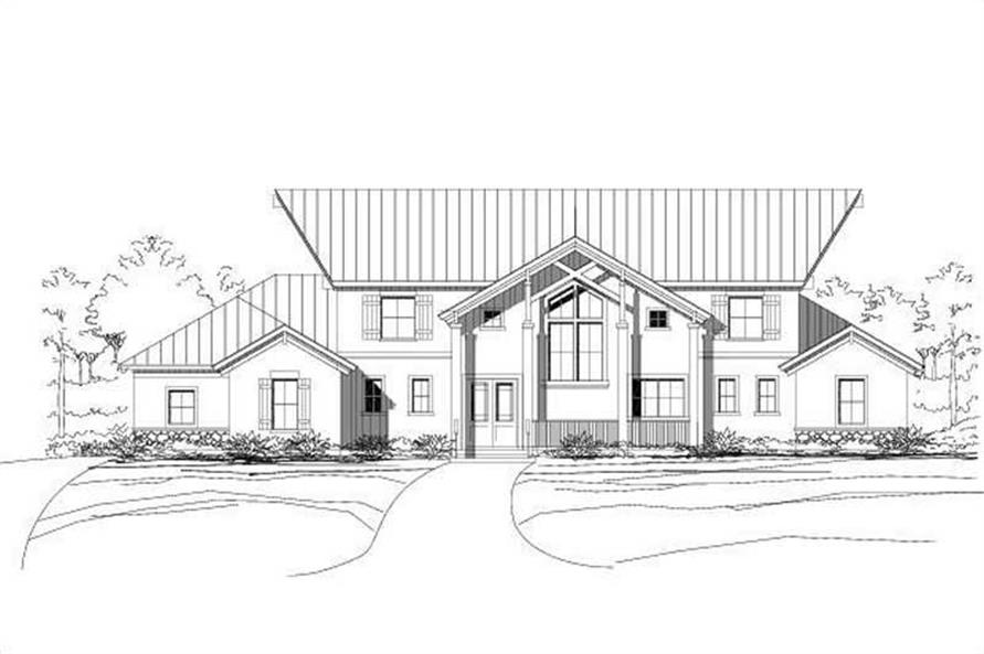 3-Bedroom, 3417 Sq Ft Contemporary Home Plan - 156-2186 - Main Exterior