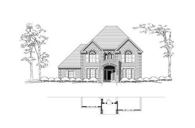 4-Bedroom, 4016 Sq Ft Luxury House Plan - 156-2188 - Front Exterior