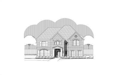 4-Bedroom, 3630 Sq Ft Luxury Home Plan - 156-2191 - Main Exterior