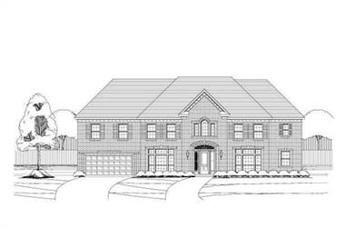 5-Bedroom, 4754 Sq Ft Luxury Home Plan - 156-2192 - Front Exterior