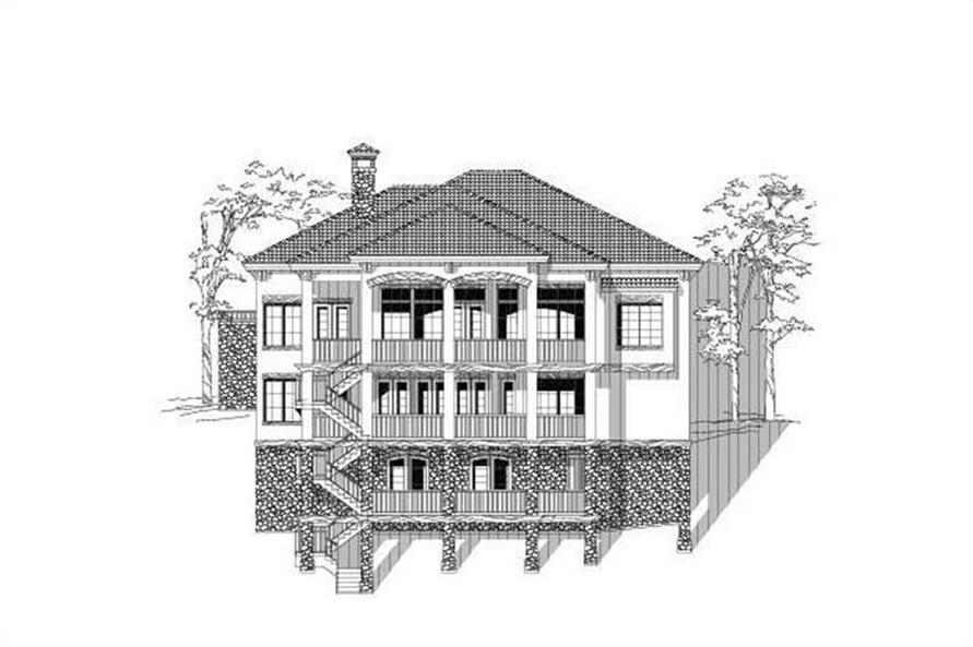 4-Bedroom, 4184 Sq Ft Craftsman Home Plan - 156-2195 - Main Exterior
