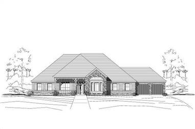 4-Bedroom, 3363 Sq Ft Country Home Plan - 156-2197 - Main Exterior