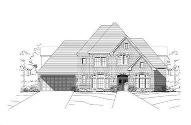 4-Bedroom, 4095 Sq Ft Luxury Home Plan - 156-2199 - Main Exterior
