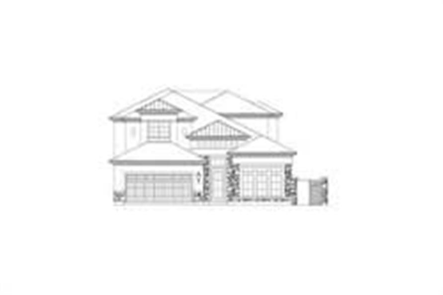 4-Bedroom, 3551 Sq Ft Tuscan Home Plan - 156-2200 - Main Exterior