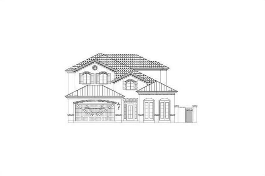 4-Bedroom, 3234 Sq Ft Country Home Plan - 156-2201 - Main Exterior