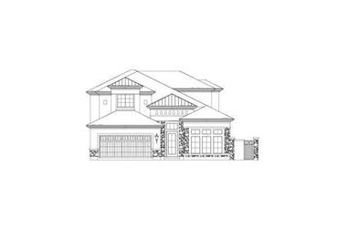 3-Bedroom, 3234 Sq Ft Tuscan Home Plan - 156-2202 - Main Exterior