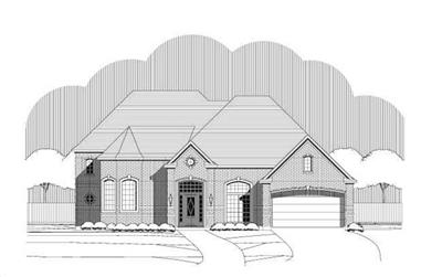 5-Bedroom, 4365 Sq Ft Luxury Home Plan - 156-2203 - Main Exterior