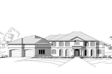 5-Bedroom, 5322 Sq Ft Luxury Home Plan - 156-2204 - Main Exterior